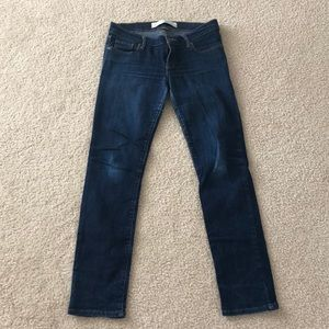 Abercrombie and Fitch dark denim skinny jeans